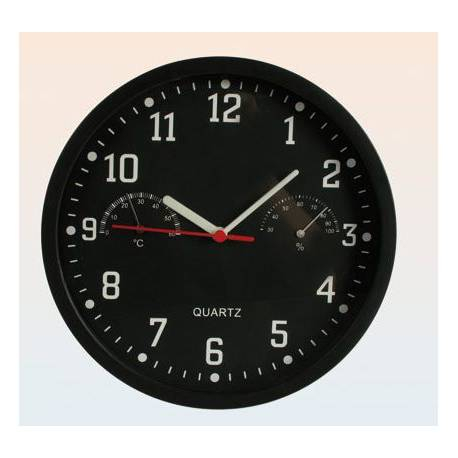 Ceas de perete cu termometru si higrometru 0