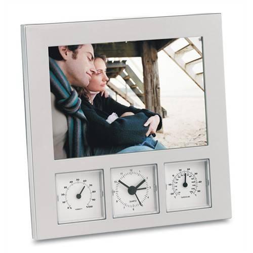 Statie meteo cu rama foto, higrometru si termometru 0
