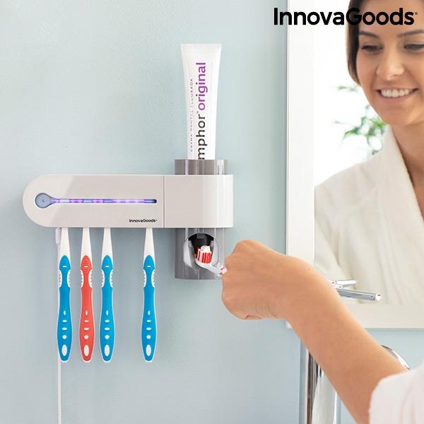 Sterilizator UV pentru periuță de dinți cu suport și distribuitor de pastă de dinți Smiluv 1