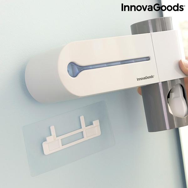 Sterilizator UV pentru periuță de dinți cu suport și distribuitor de pastă de dinți Smiluv 3