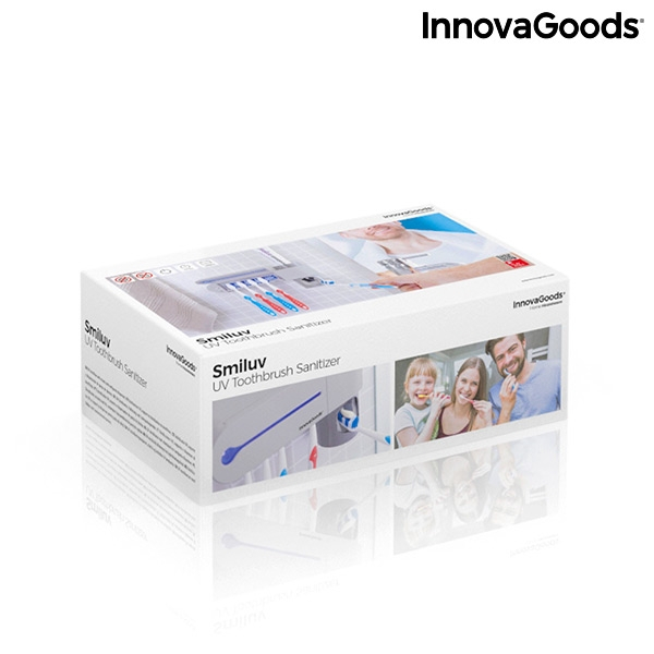 Sterilizator UV pentru periuță de dinți cu suport și distribuitor de pastă de dinți Smiluv 6