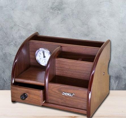 Suport de birou cu sertar si ceas 0