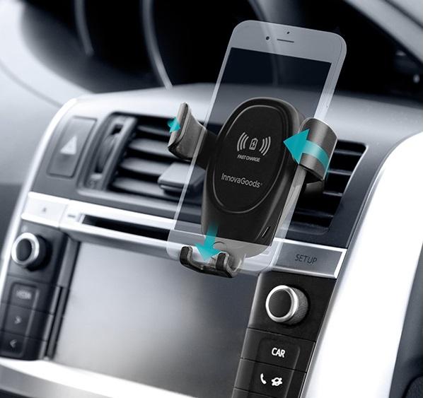 Suport de telefon mobil cu încărcător fără fir pentru mașini Wolder 6