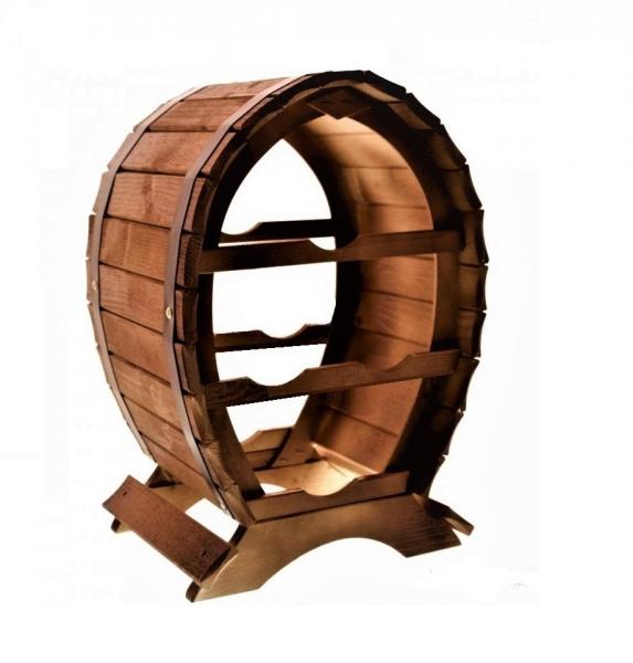 Suport lemn de vin pentru 4 sticle 0