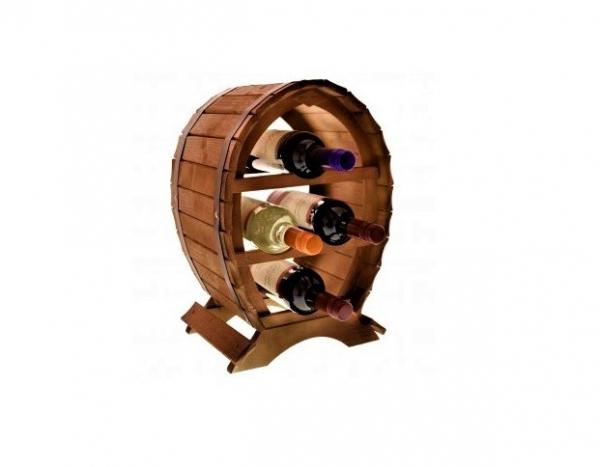 Suport lemn de vin pentru 4 sticle 1