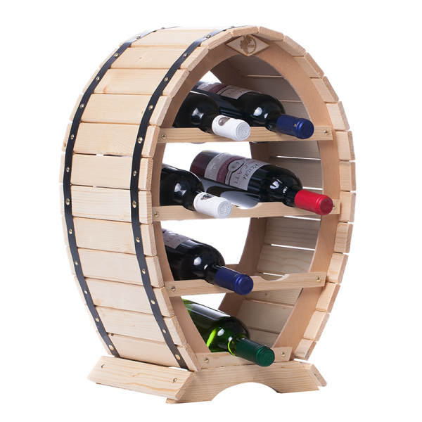 Suport mediu din lemn pentru sticle vin 3
