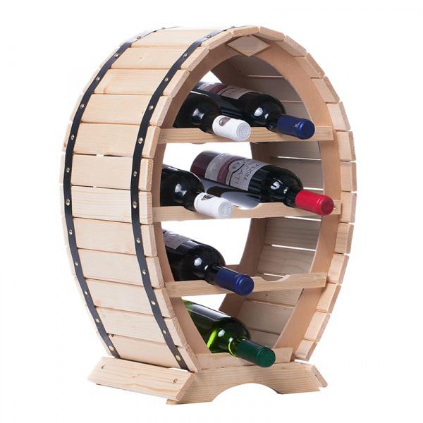 Suport mediu din lemn pentru sticle vin [3]