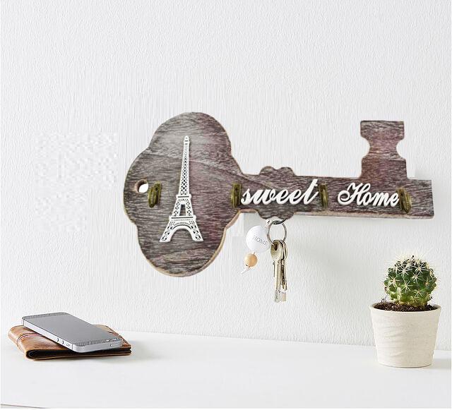 Suport pentru chei realizat din lemn Sweet Home 0