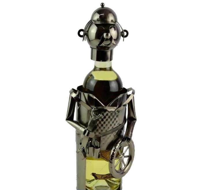 Suport pentru sticla de vin metalic pentru sticla mica de vin 187ml [0]
