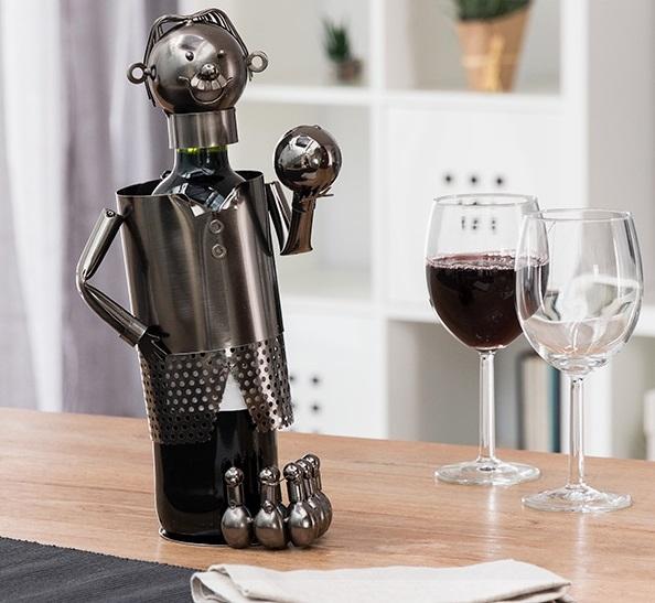 Suport pentru sticla de vin metalic pentru sticla mica de vin 187ml [1]