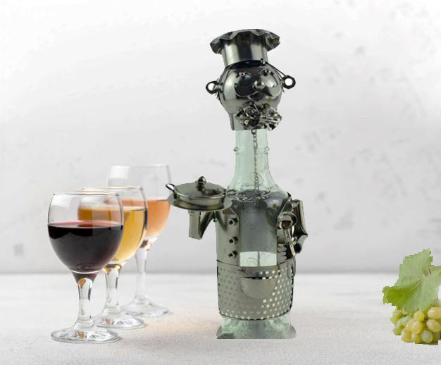 Suport pentru sticla de vin metalic pentru sticla mica de vin 187ml [2]