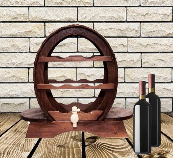 Suport vinuri din lemn pentru 7 sticle 0
