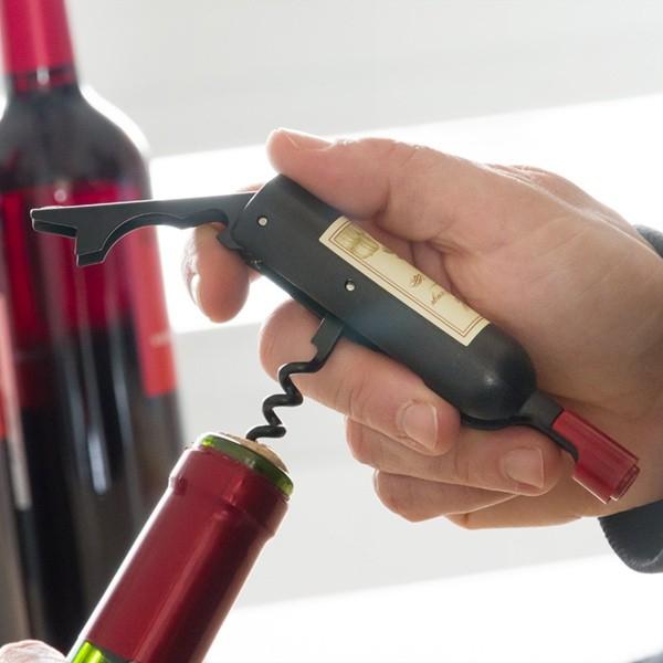 Tirbuson si desfacator cu magnet Wine 2