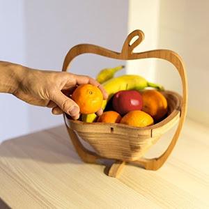 Cos pliabil din lemn pentru fructe 2