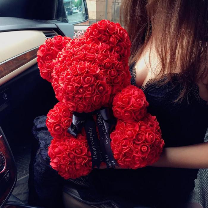 Ursulet din trandafiri 25 - 40 cm 0