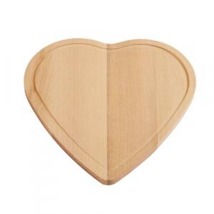 Platou din lemn in forma de inima
