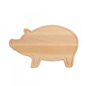 Tocator din lemn in forma de porcusor1