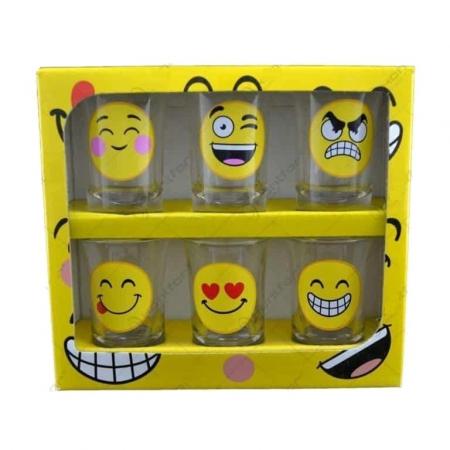 Set 6 pahare pentru shot-uri Emoji1