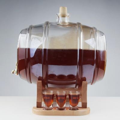 Set butoi din sticla cu 6 pahare2