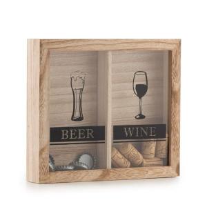 Tablou decorativ pentru dopuri de bere si vin1