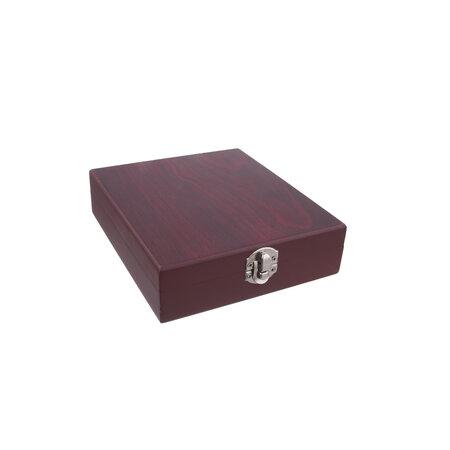 Cutie din lemn cu accesorii pentru vin ,4 piese1