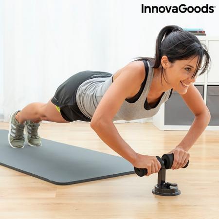 Bară pentru abdomene cu ventuză și ghid de exerciții CoreUp2