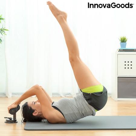 Bară pentru abdomene cu ventuză și ghid de exerciții CoreUp5