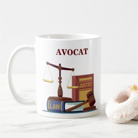 Cana personalizata cu text- Avocat2