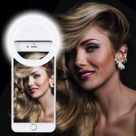 Inel Selfie LED pentru telefon0