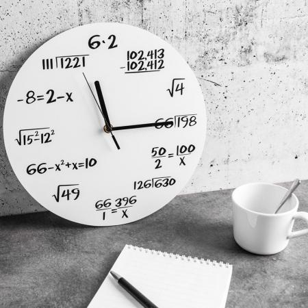 Ceas Matematica Alb [0]