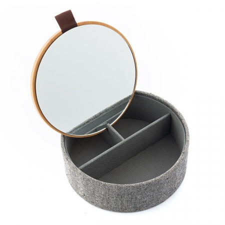 Cutie bijuterii cu organizator şi oglinda3
