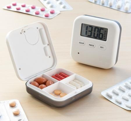 Cutie electronică inteligentă pentru pastile Pilly2