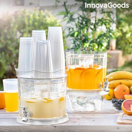 Distribuitor dublu de băuturi cu compartimente de gheață și tavă pentru gustări TwinTap6
