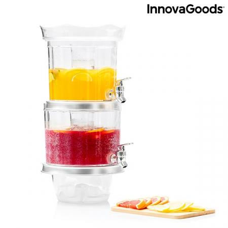 Distribuitor dublu de băuturi cu compartimente de gheață și tavă pentru gustări TwinTap5