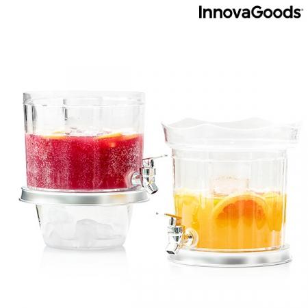 Distribuitor dublu de băuturi cu compartimente de gheață și tavă pentru gustări TwinTap4