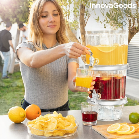Distribuitor dublu de băuturi cu compartimente de gheață și tavă pentru gustări TwinTap0