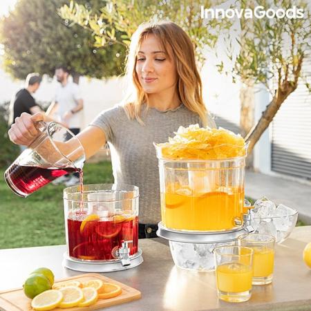 Distribuitor dublu de băuturi cu compartimente de gheață și tavă pentru gustări TwinTap1