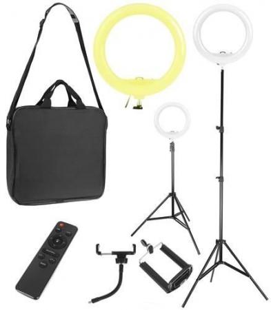 Lampa circulara portabila, cu putere de 30W pentru foto, make-up, cosmetica2