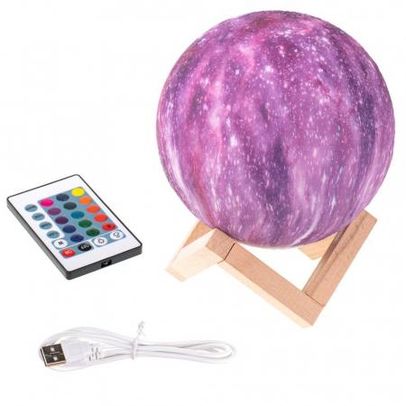 Lampa 3D - STARS - 16 culori4