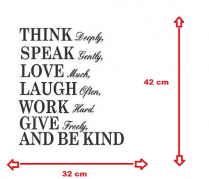 Autocolant/ sticker inspirational Think Deeply2