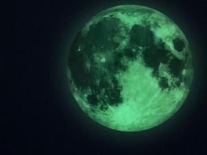 StIcker fosforescent de perete Luna0