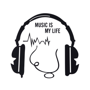 Autocolant / Sticker de perete Music is my life