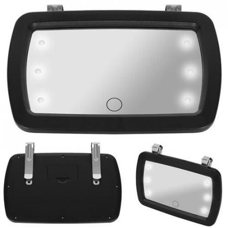 Oglinda auto supraveghere copil, iluminata LED1