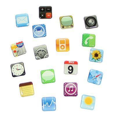 Set 18 magneti frigider Iphone Design2