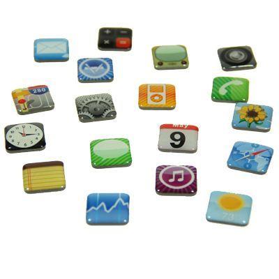 Set 18 magneti frigider Iphone Design3