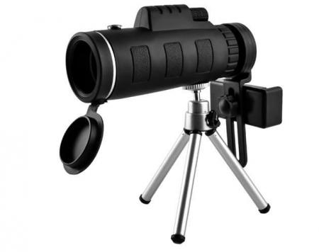 Telescop cu lentile pentru telefon pe trepied1