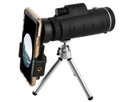 Telescop cu lentile pentru telefon pe trepied0