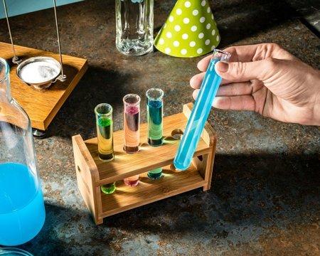 Set eprubeta sticlă  4 buc cu suport din lemn [1]