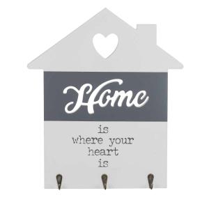 Suport din lemn pentru chei Love home1