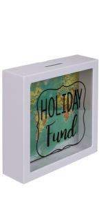 Pusculita Holiday Fund cu harta lumii1